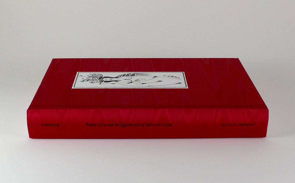 The standard edition of Pomba Gira, resplendent in scarlet moiré.