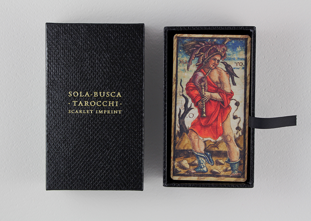 Another view of the Sola-Busca tarocchi deck.
