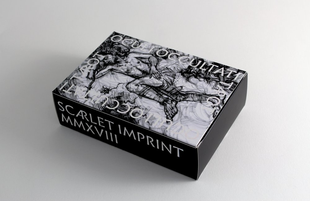 The Oculi Occultati tarot in its box.