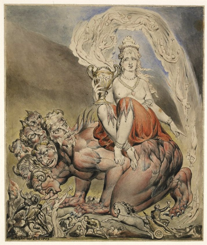 William Blake, The Whore of Babylon (1809)