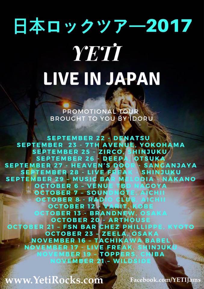 Live in Tokyo, Japan. 2017