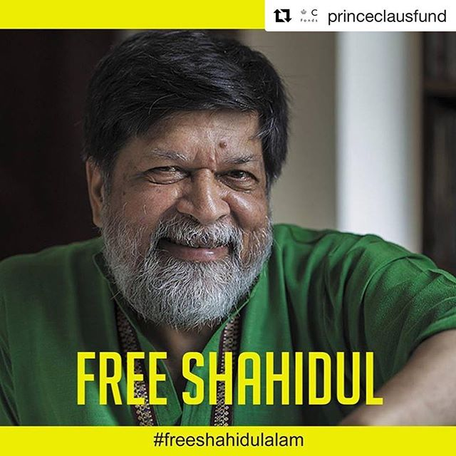 #Repost @princeclausfund — #freeshahidulalam  Dr. Shahidul Alam Detained – Appeal for his Release: Dr. Shahidul Alam, internationally renowned photographer, activist, founder and Managing Director of the Bangladesh multimedia company, Drik, founder of Chobi Mela International Photography Festival and Pathshala South Asian Media Institute, was forcibly abducted from his home on the night of 5 August. Today he appeared in court, apparently so badly beaten that he was unable to walk on his own. Sources say Shahidul is being charged under Bangladesh's ICT law for his reports on Facebook of ongoing student protests and for an interview he gave to Al Jazeera about the protests.  Shahidul has been a close friend and inspiring partner of the Prince Claus Fund for many years. He is a tireless advocate of values that we share: that all people should have the right to freedom of cultural expression. Through his reporting and photography he has discovered and shared hidden human stories not only in Bangladesh but of the many other cultures encountered on his travels.  The Prince Claus Fund and its Network Partners deplore the extreme violence and intimidation exercised in Shahidul's arrest,  We call for his immediate and unconditional release.  #cultureisabasicneed #Bangladesh #humanrights #freespeech #shahidul #photojournalism