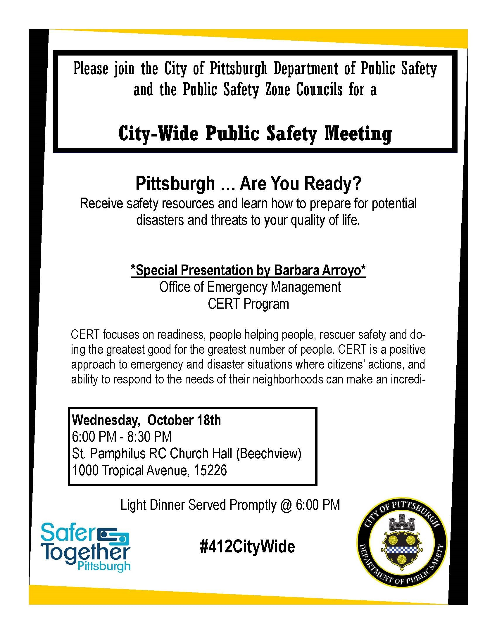 City Wide Public Safety Meeting