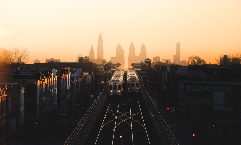 Image from a rooftop in Philadelphia PA