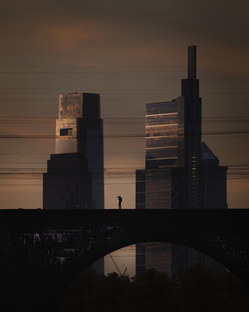Fantasy Image of the Skyline of Philadelphia PA - Hythacg