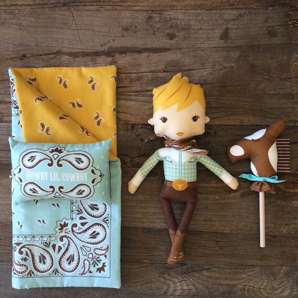 Howdy fabric panel and collection by Stacy Iest Hsu