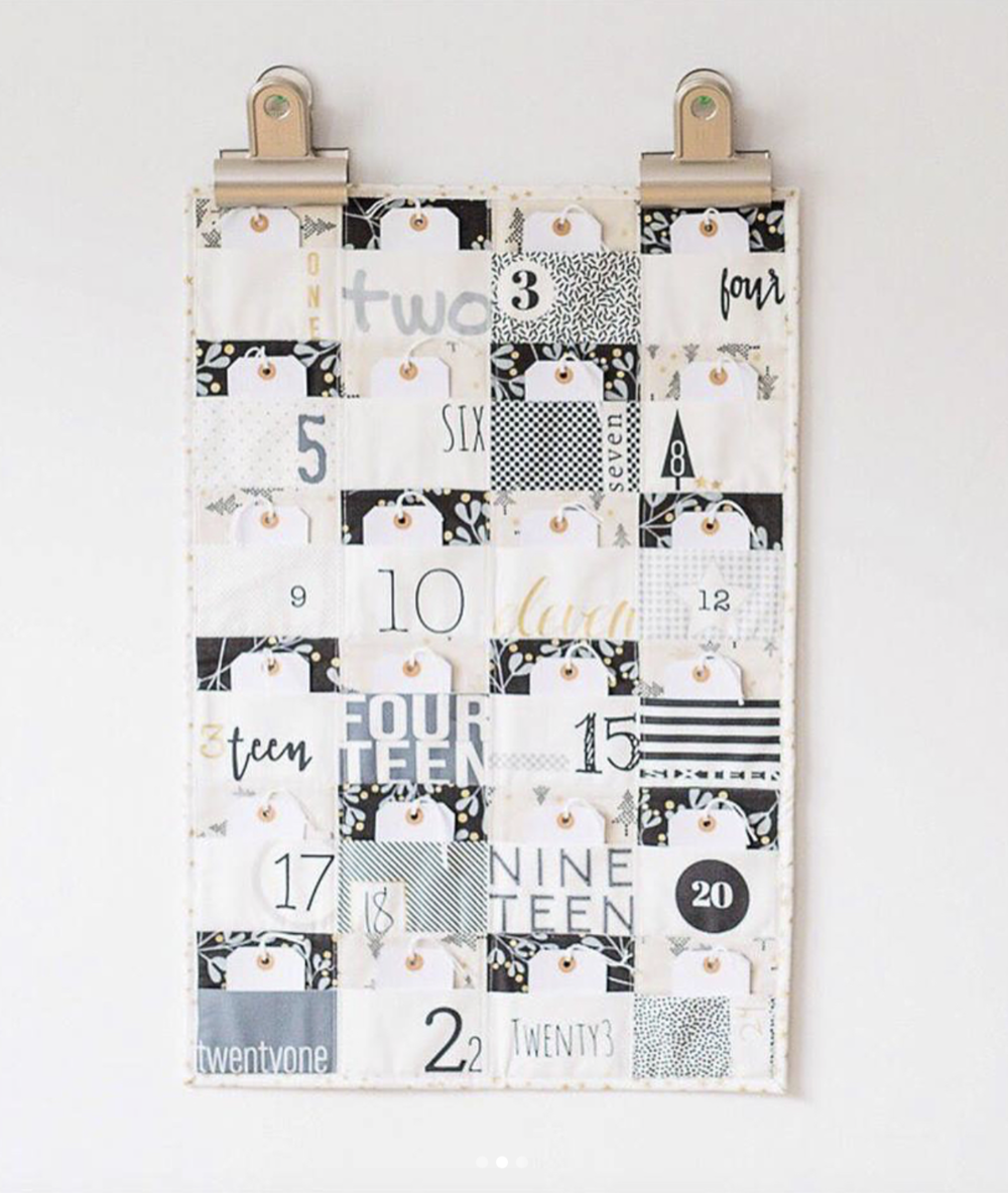 An alternative version on the look of the advent Calendar. Picture courtesy of  quilt101  . They offer kits for this version, ask them for the offer.