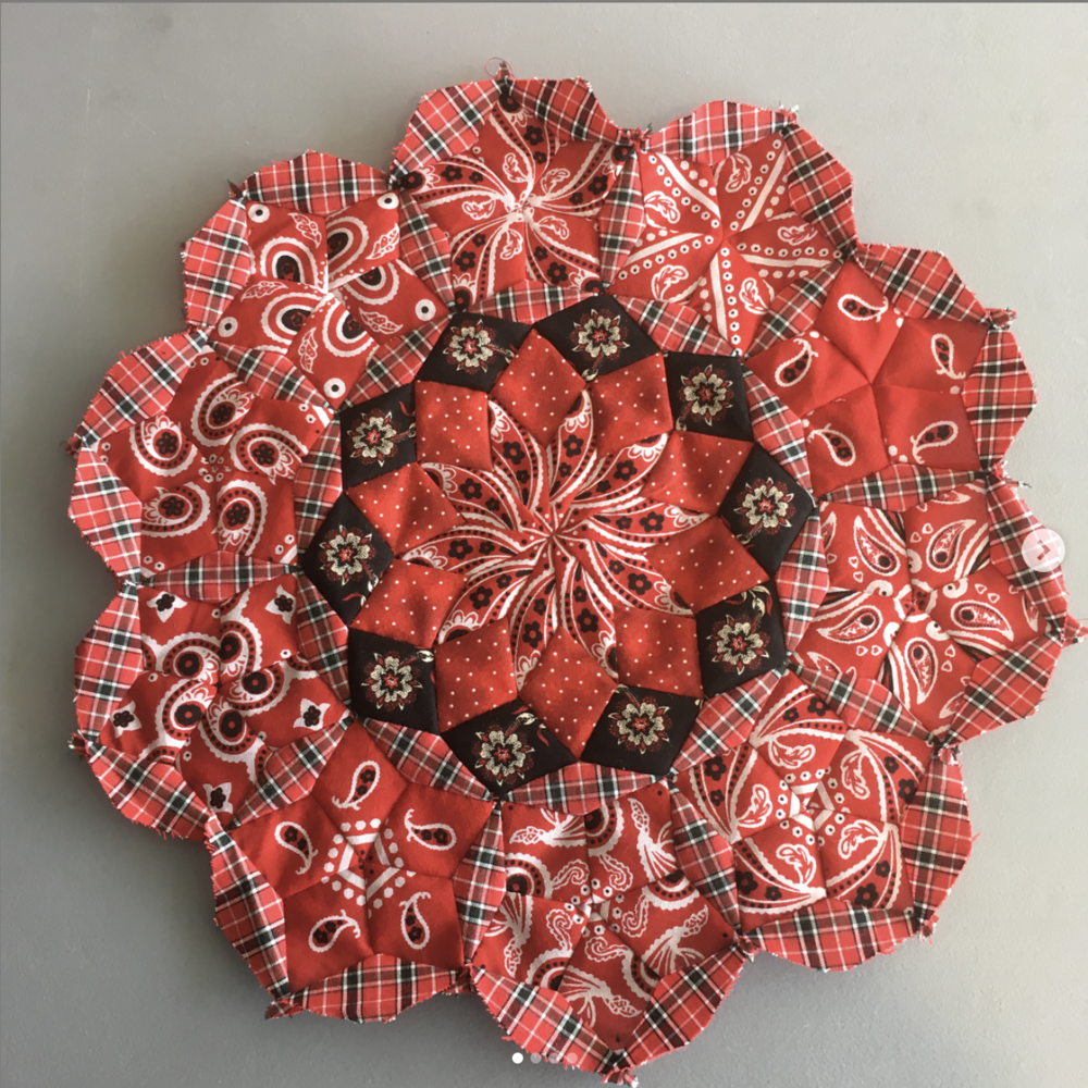 Rosette of the Moncarapacho Quilt, picture credit  Anne Varley