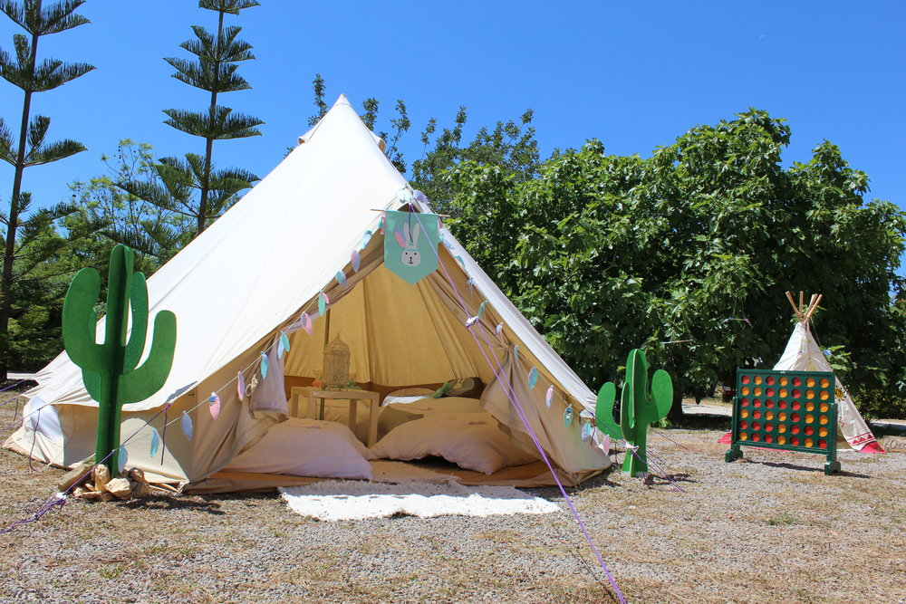 Tepee's and Bell Tents for Kids events on Ibiza