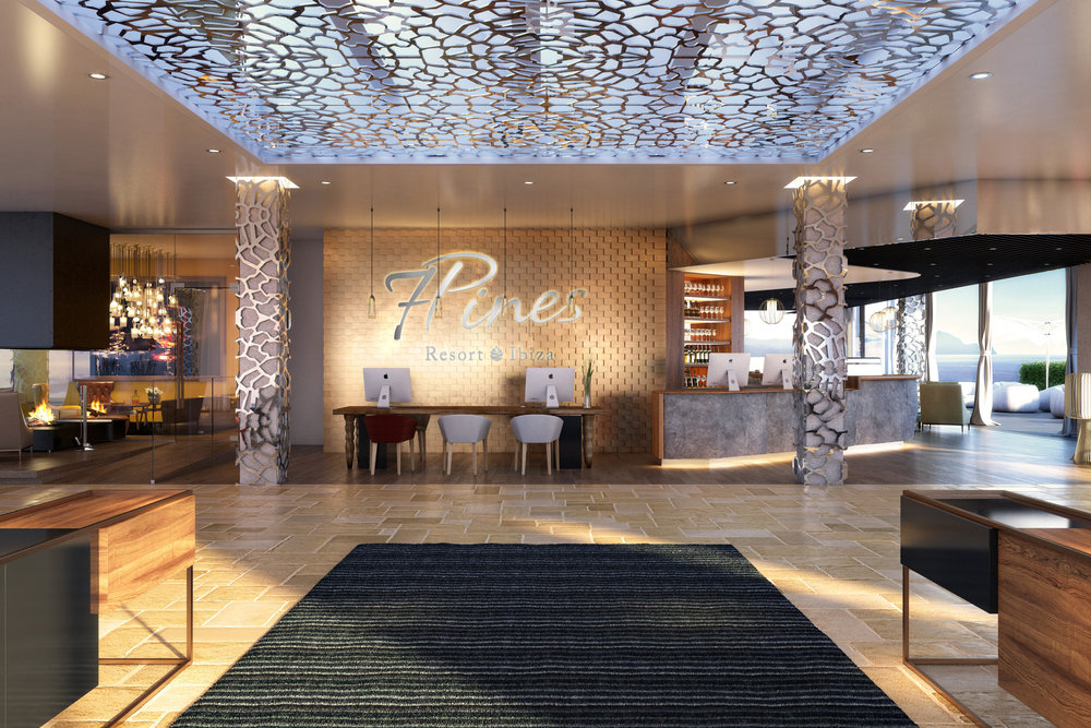 7Pines Resort Ibiza lobby