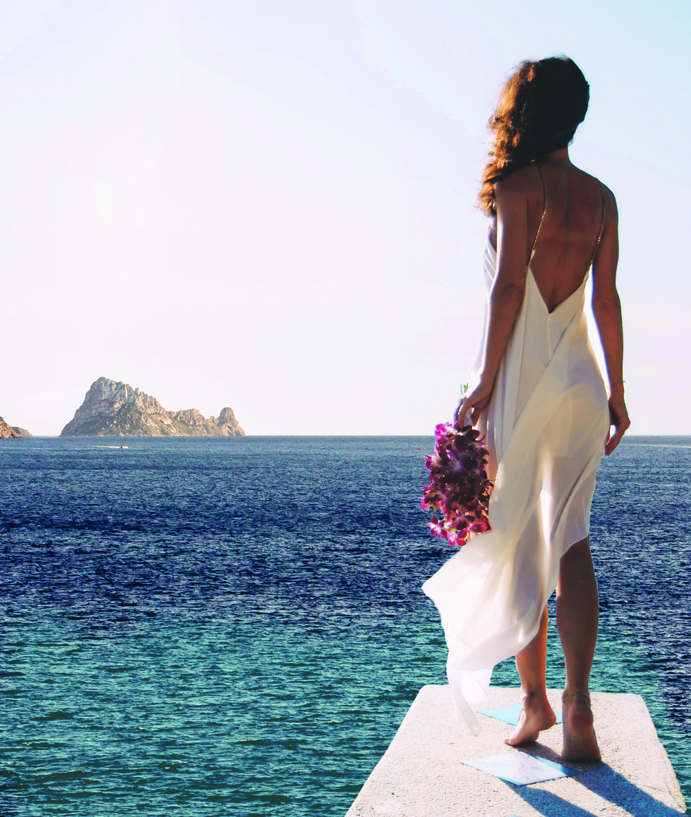 Ibiza bride - Wedding at Seven Pines Resort Ibiza, overlooking Es Vedra