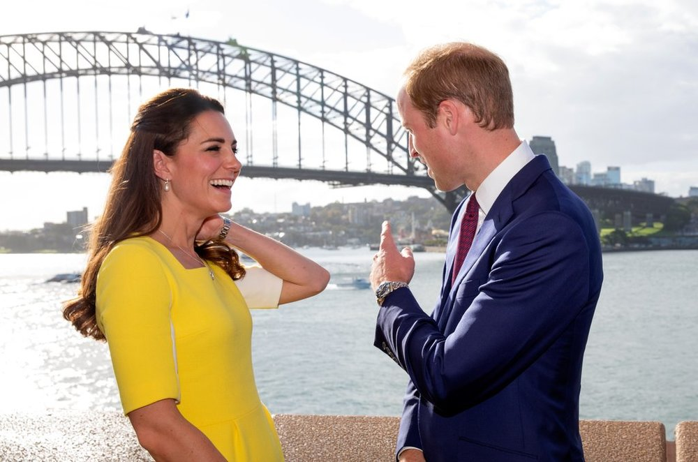 "I love how they're  always  teasing each other...   When Kate debuted a bright yellow dress, she told an Australian woman ""William said I look like a banana!"""