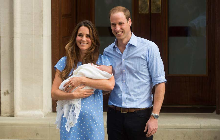 This is my favourite photo of them EVER. The revealing of the first child, Prince George.