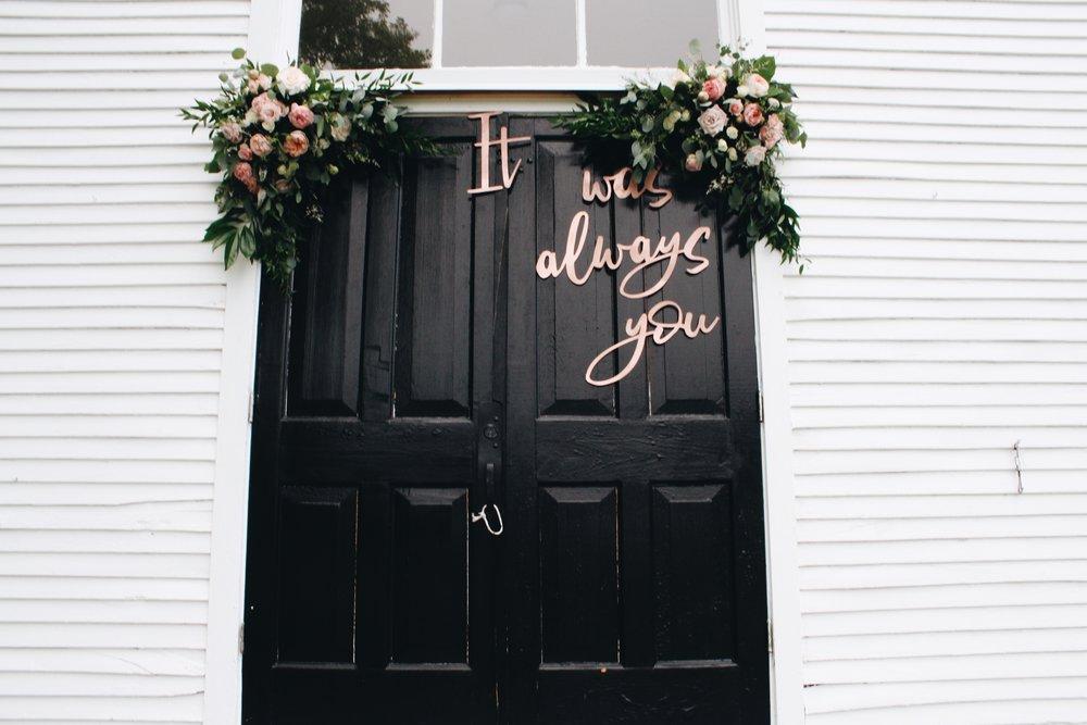 It was always you wedding door sign