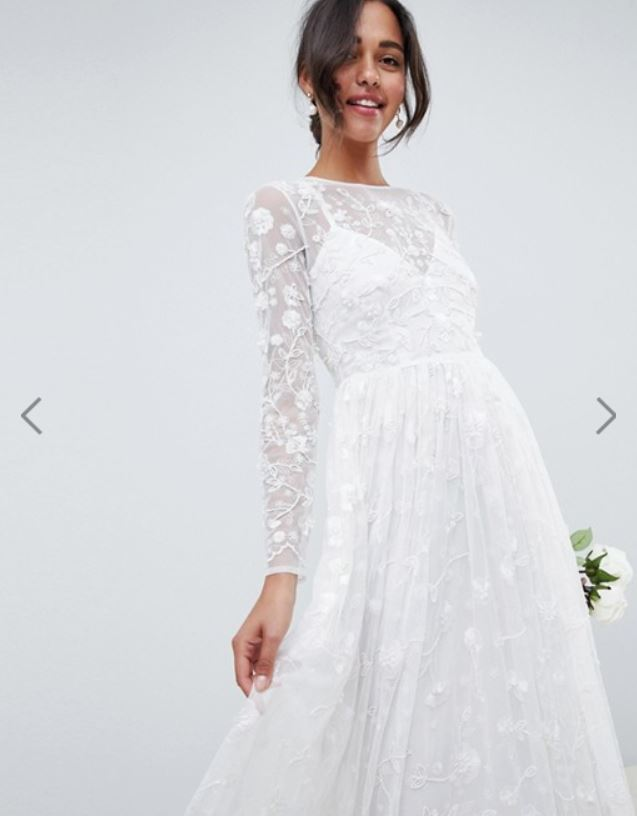 a2cbbec0296f ASOS EDITION all over embellished and embroidered wedding dress £200.00