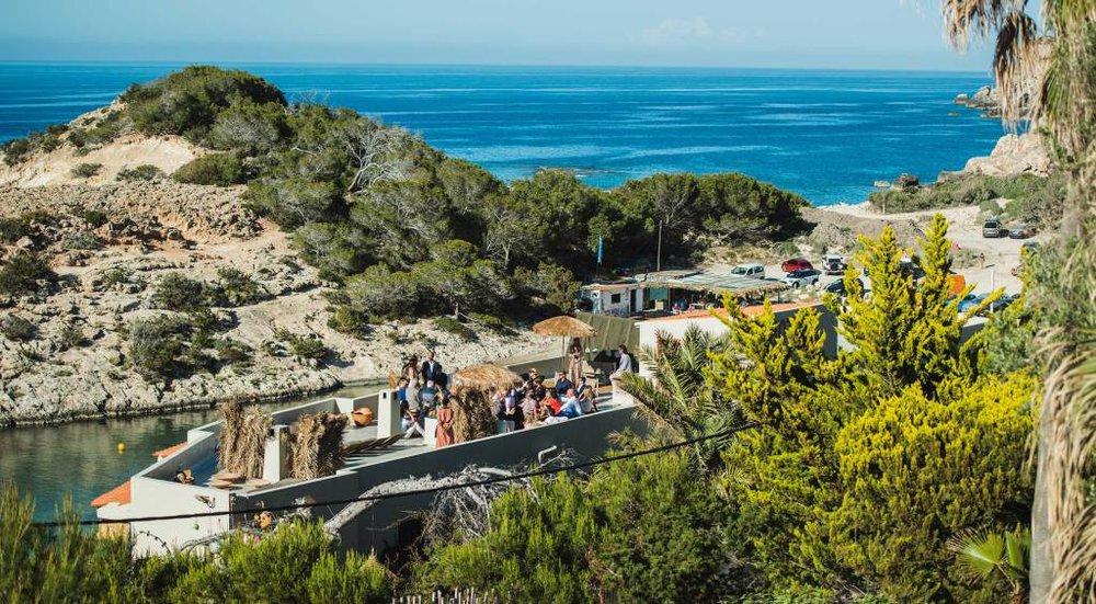 Rooftop wedding ceremony at Los Enamorados, Ibiza