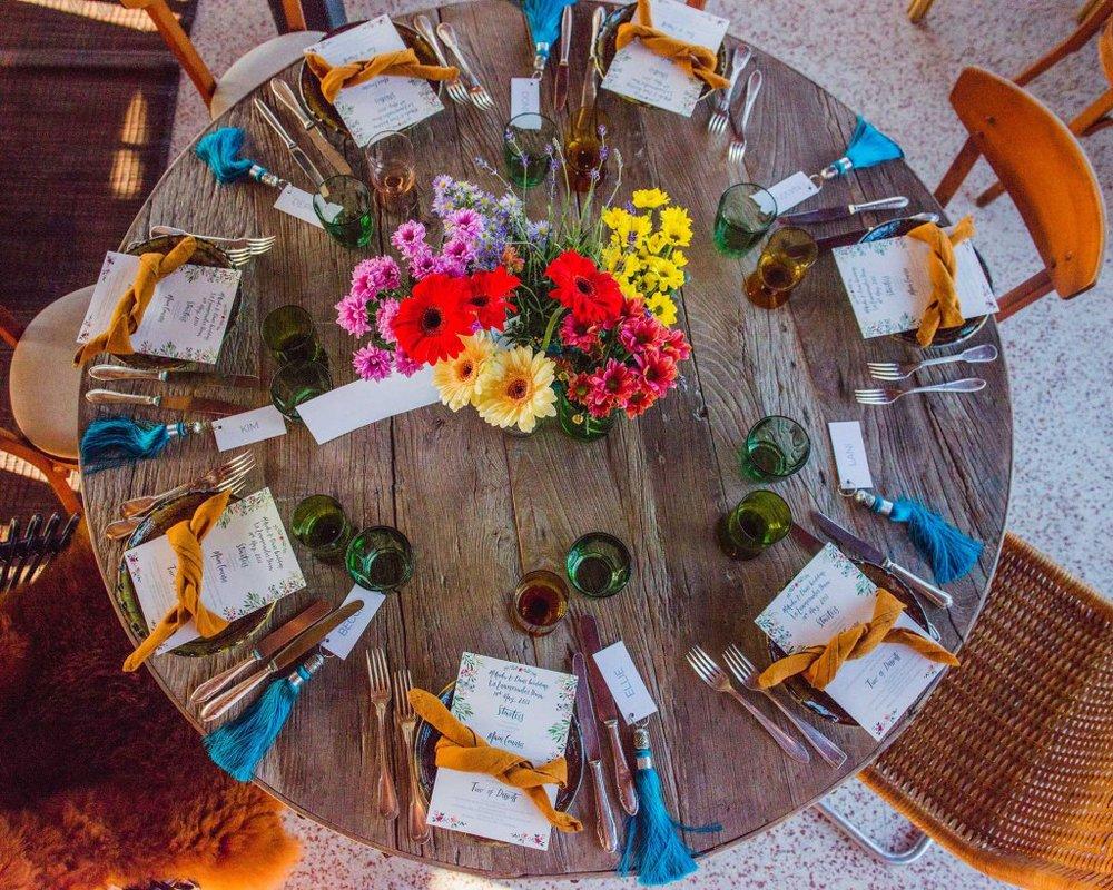 Wedding table decorations, Los Enamorados, Ibiza