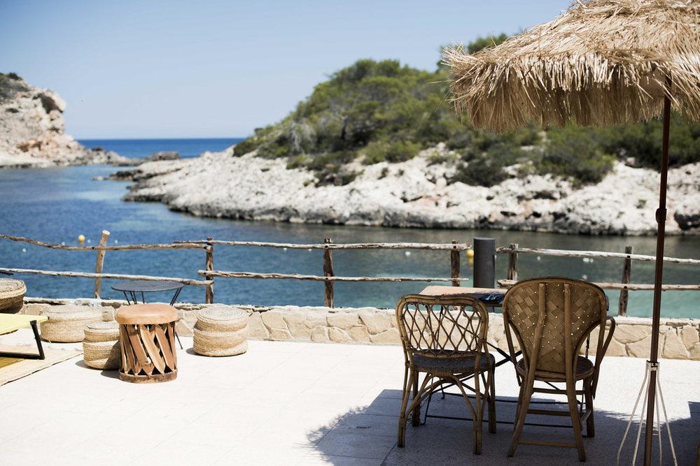 Restaurant view from Los Enamorados, Ibiza
