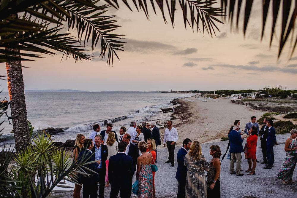 Wedding at La Escollera, Ibiza. Playa es Cavallet beach.