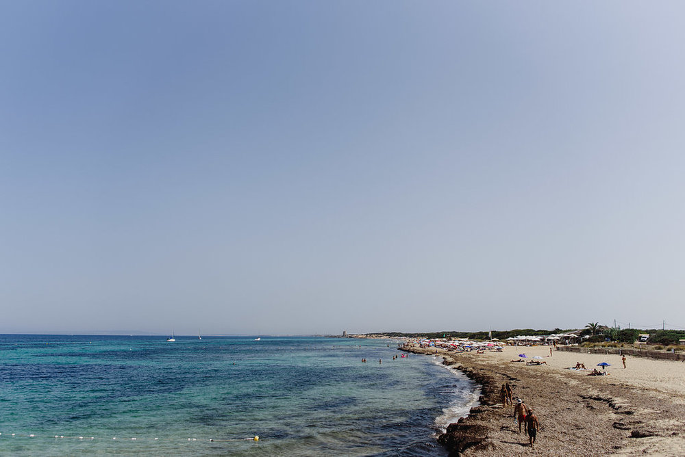 Playa es Cavallet, La Escollera, Ibiza