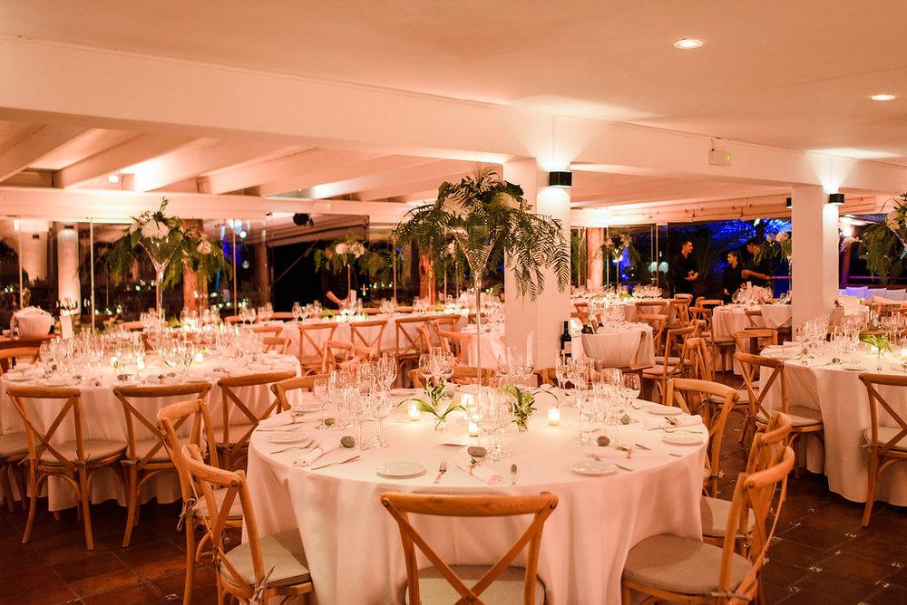 Wedding dinner at La Escollera, Ibiza