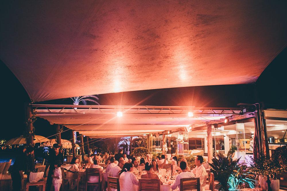 Wedding ceremony area at La Escollera, Ibiza