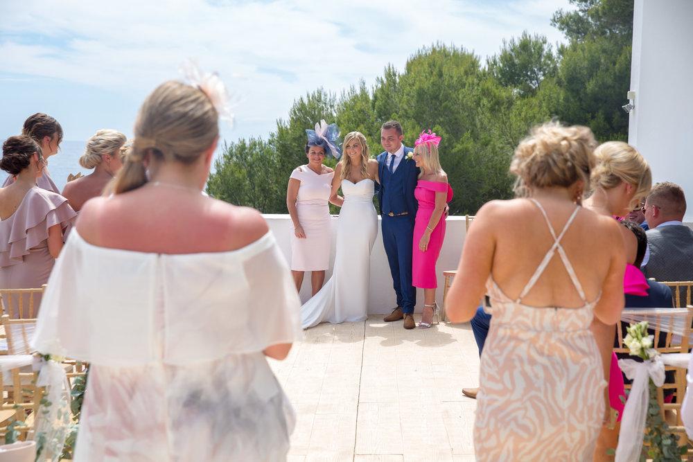Photo of wedding at Elixir Shore Club, Ibiza. Photography by Matt Morgan.