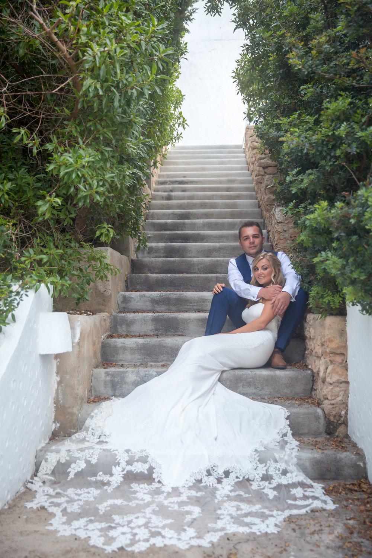 Bride and Groom at Elixir Shore Club, Ibiza. Photo by Matt Morgan.