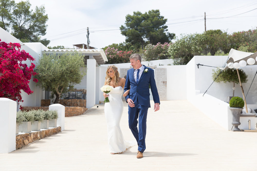 The bride and father of the bride at Elixir Ibiza. Photo by Matt Morgan.