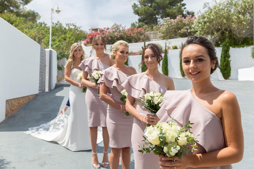 Bride and bridesmaids at Elixir Ibiza. Photo by Matt Morgan.