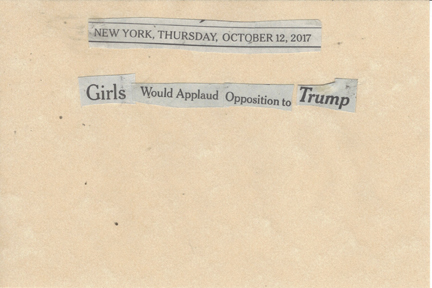 October 12, 2017 Girls Would Applaud Opposition to Trump SMFL.jpg