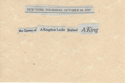 October 26, 2017 The Queen of a Kingdom Looks Beyond a King SMFL.jpg
