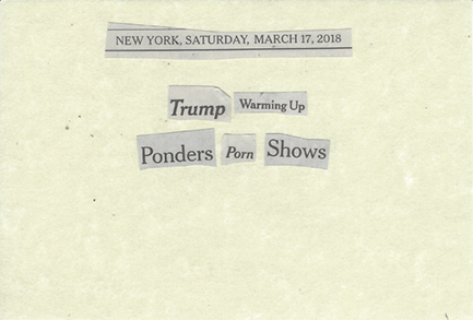 March 17, 2018 Trump Warming Up Ponders Porn Shows SMFL.jpg