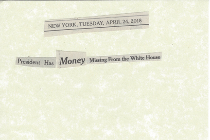 April 24, 2018 President Has Money Missing from the White House SMFL.jpg