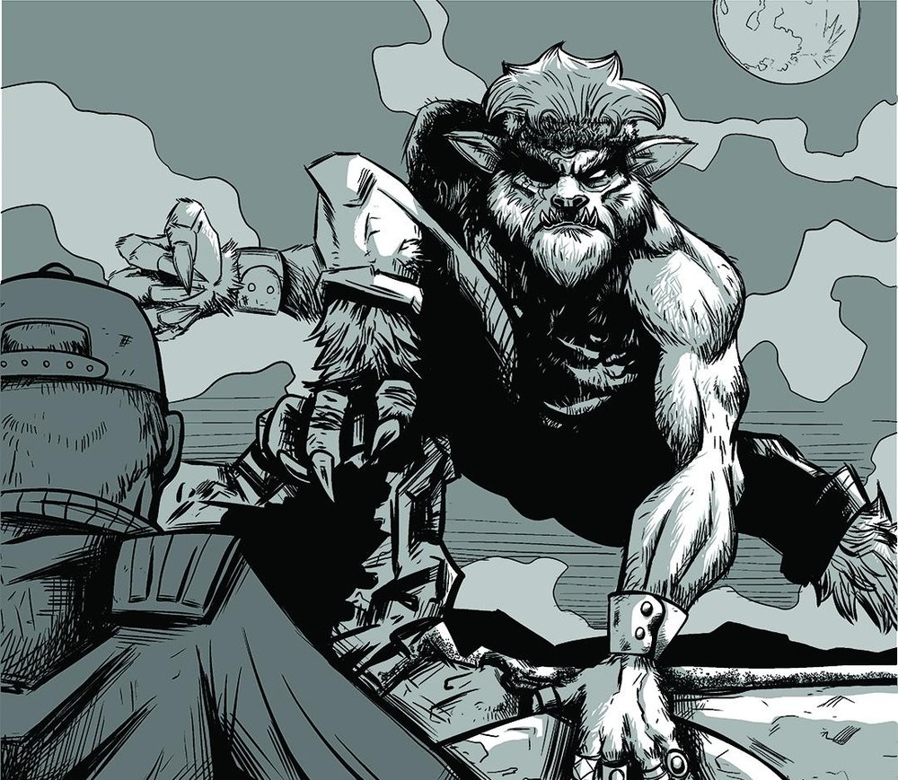 The werewolf monster that takes down the human monsters