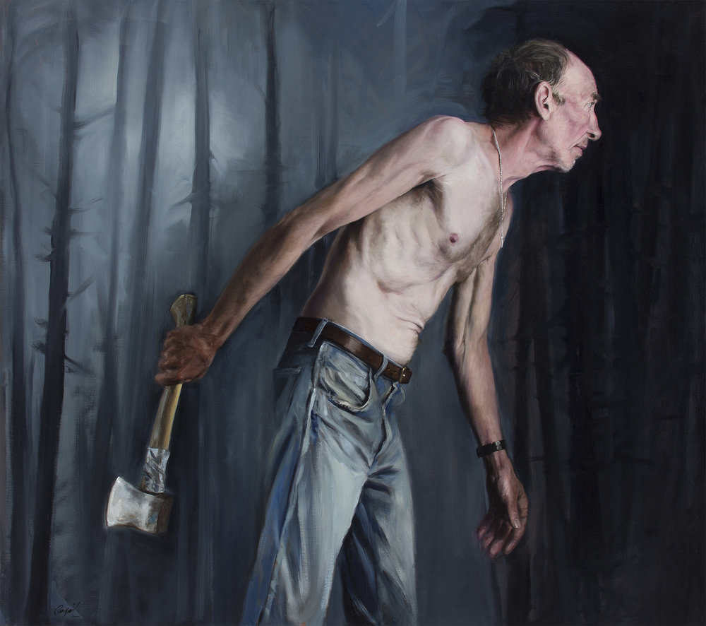 Hatchet Man_Congail_Oil on linen_36x32.jpg