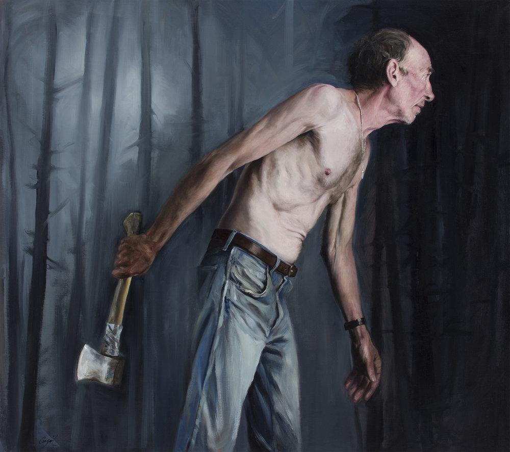 Hatchet Man_Congail_Oil on linen_36x32.jpg