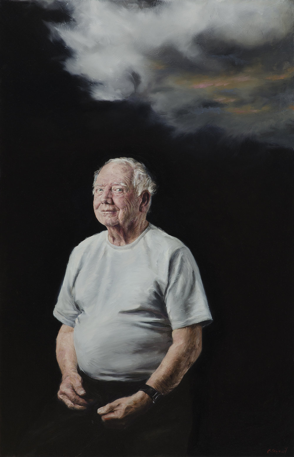 Waiting for Lightning_Congail_Oil on linen_22x34.jpg