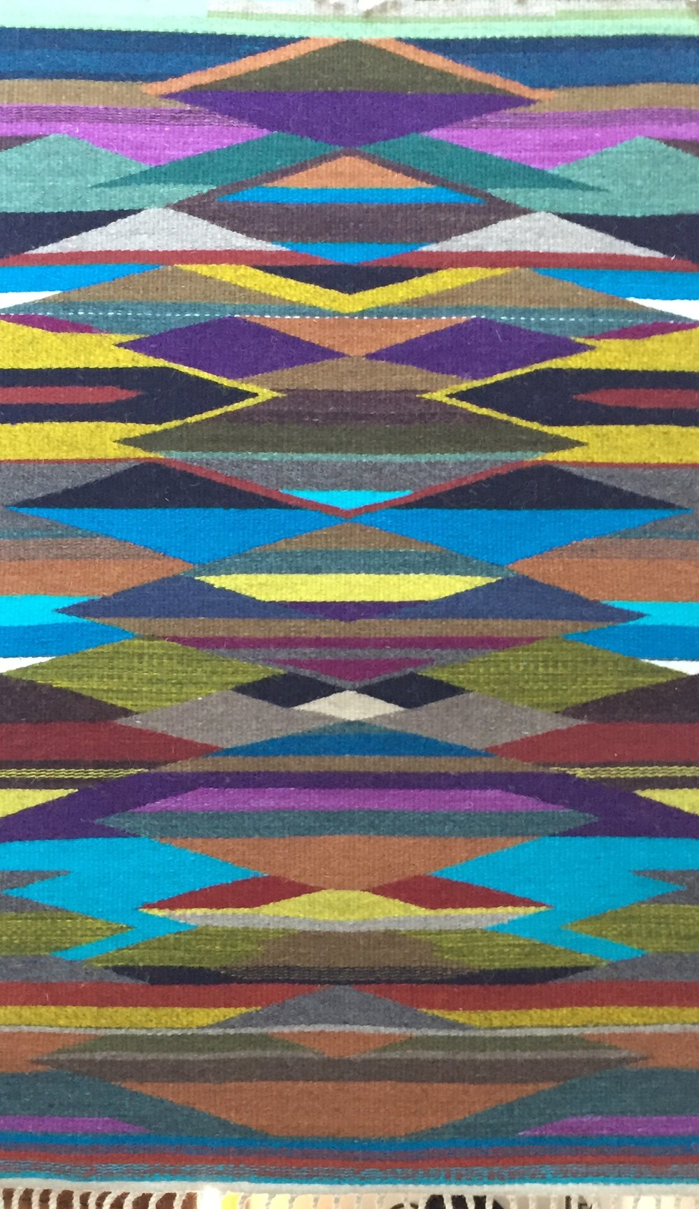 Rio Grande style rug by Dayna Fisk-Williams