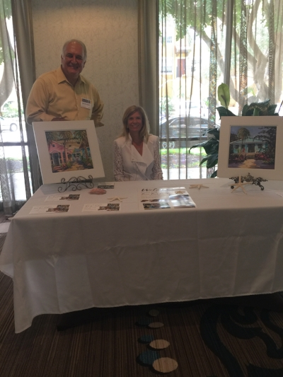 John Dingfelder & Daryl Frahn, Save Our Cottages Finance Committee member at the Florida Trust for Historic Preservation State Conference in St Petersburg, FL.