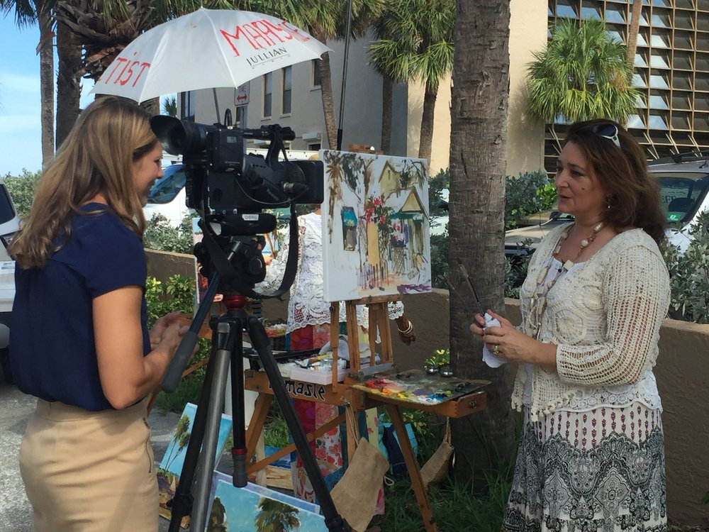 BN9 Reporter Sara Belsole interviews Cottage Artists Violetta Chandler