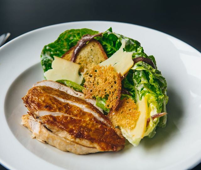 Chicken Caesar salad from our lunchtime menu