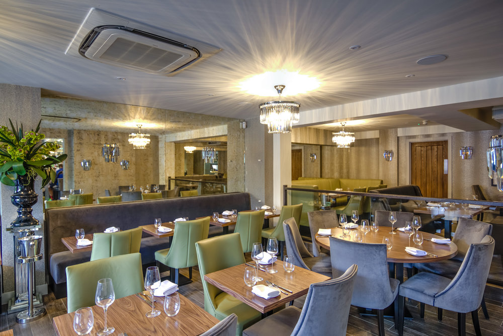 An exciting new grill restaurant serving high end, modern, seasonal cuisine in cool, calm, modern surroundings.