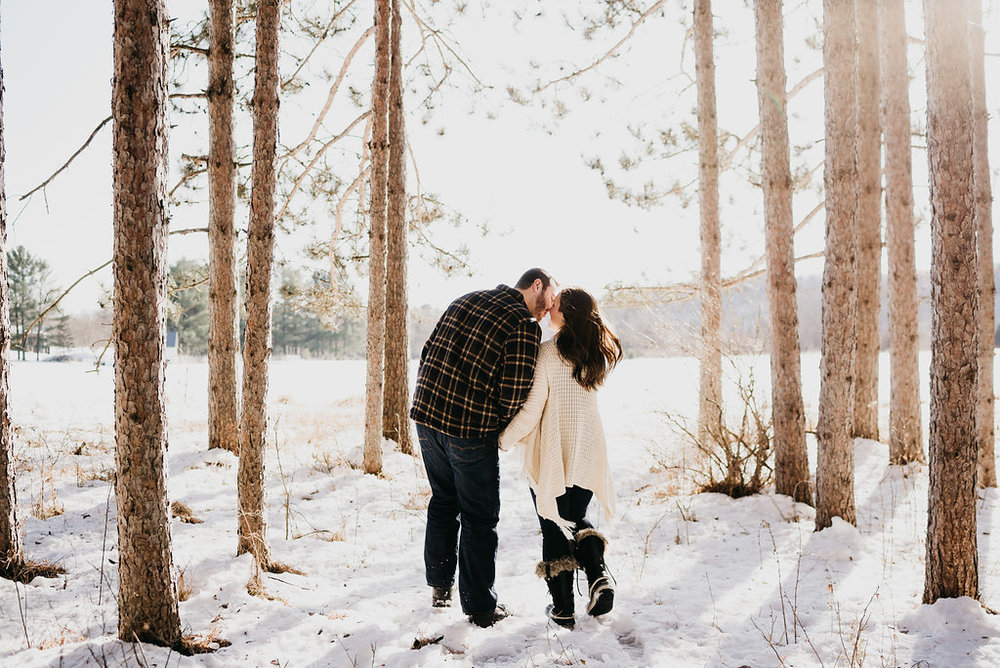 MN Winter Engagement Photos