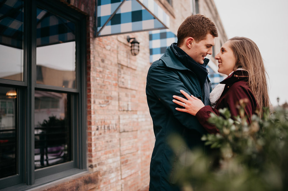 Downtown Minneapolis Engagement Photos