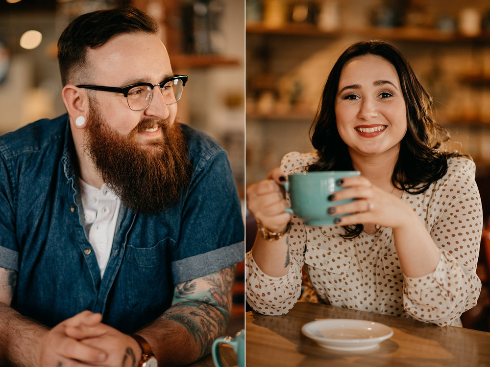 Coffee shop engagement photos / coffee shop engagement pictures / Minneapolis engagement photos / MPLS engagement photos / MPLS engagement photographer / Minneapolis engagement photographer