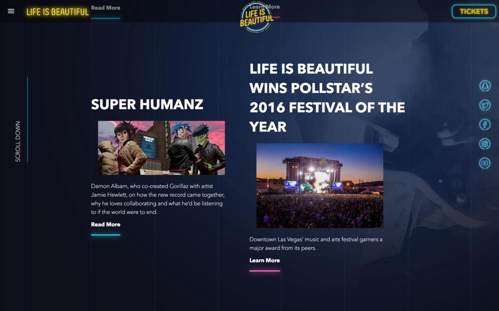 Life Is Beautiful Website Ronaldo Jardim Creative And Art Director