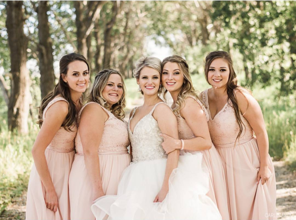 Makeup: Robin H & Robyn L ~ Bridesmaids Hair: Ashley ~Photo: