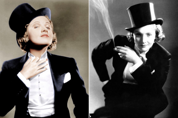 Style Reference: Marlene Dietrich (above) and Kate Moss