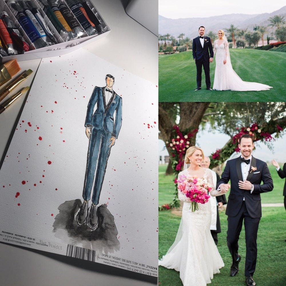 The Black Satin and Navy Blue Custom Wedding Tuxedo — THE CUTTING ...